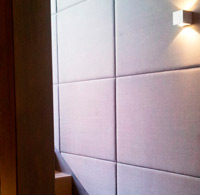 Covering walls with numerical control cutting. Staircase hotel. Oviedo.